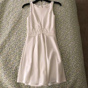 Francesca's White Flowy Dress